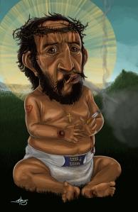 Baby Jesus Having A Smoke Break